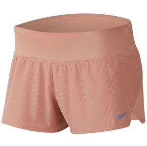 Nike dri-FIT perforated clay/ peach shorts/ m